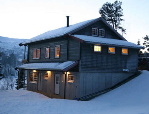 Ny hytte er nå ferdig bygget.