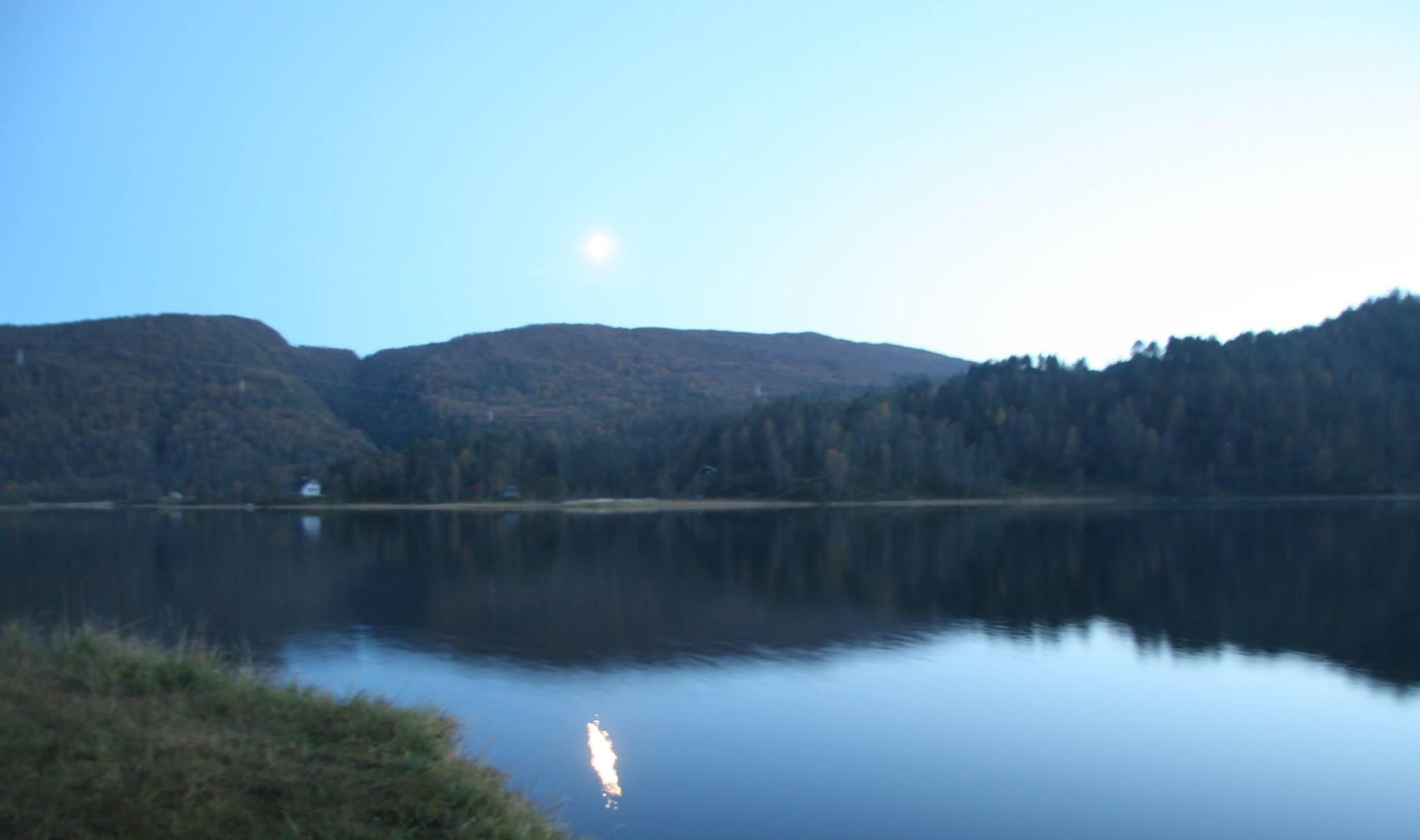 Nydelig utsikt fra båtplassen
